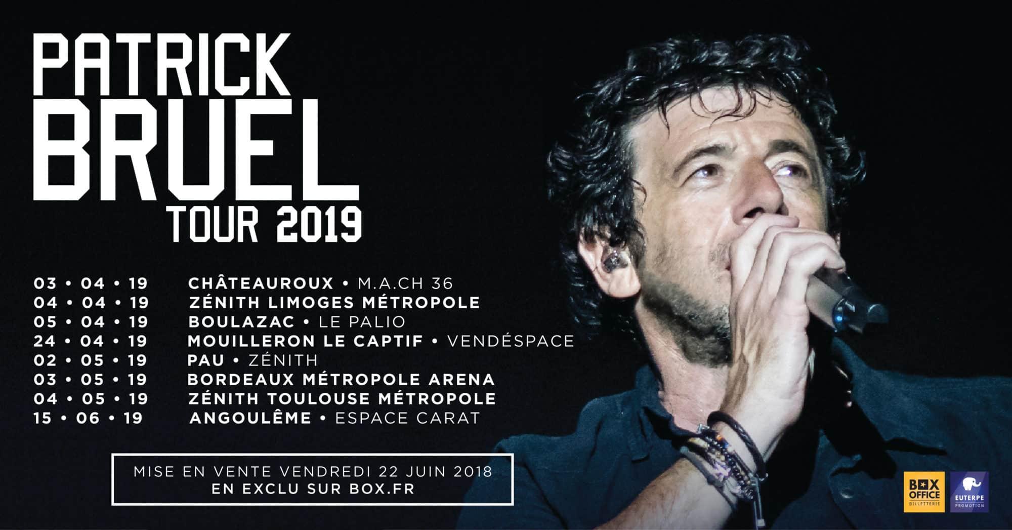 Une deuxième date pour Patrick Bruel en mai 2019 à Toulouse