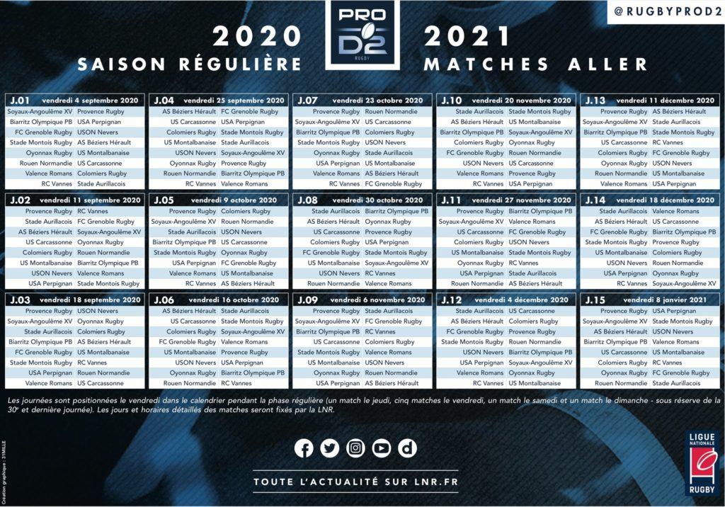 Calendrier Pro D2 2021 Colomiers Rugby : Le calendrier de la saison 2020 2021 de Pro D2